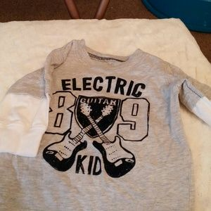 Carter's 3 month electric kid t shirt/ bib